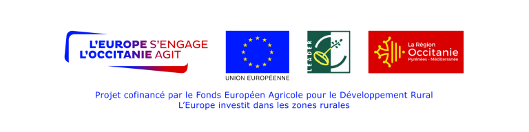 logos organismes régionaux et européens participant à la subvention leader