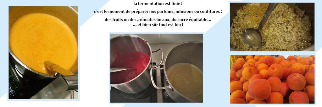 preparation des fruits et aromates locaux bio pour nos yodaqui : chez nous pas de conservateurs ni d'additifs